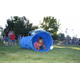 A child crawls through an obstacle last year during Park & Recreation Month (Emily Stephens/South Jordan City)