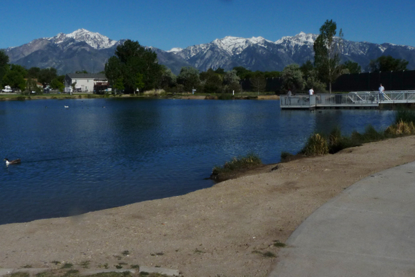 Scenic Willow Pond is just east of the Jordan River and north of the I-215 belt route in Murray. (Carl Fauver)