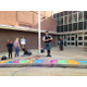 Highland High hosted Tartanfest, and just outside the school's entrance, people got to practice their art with chalk. (Alise Orlandi/Highland Art Council Member)