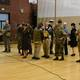 The Utah Military History Group dresses in authentic uniforms representing all branches of the military during WWII. (Jordan School District)