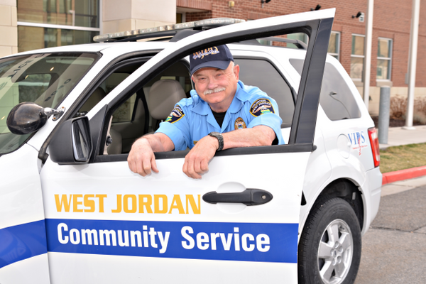 In the VIPS program, volunteers are able to drive department vehicles. (Christie Jacobs/ City of West Jordan)