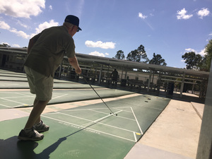 Shuffleboard has been played in Florida since about 1913 It dates back centuries to a game of sliding large coins Photo courtesy of Lee County Shuffleboard Club