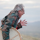 """Uncle, a shaman from Greenland, is a passionate and outspoken messenger on climate change, or what he calls the """"big ice,"""" melting at the top of the world. Photo by Sven Nieder."""