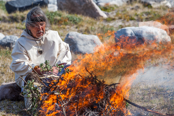 Ceremonial rituals using fire are in Uncle's teachings. Photo by Gina Birch.
