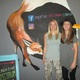 Creative Spectrum Studio artists Erica Winne right and Marci Mantegna with the mural-size gallery logo which is still in progress