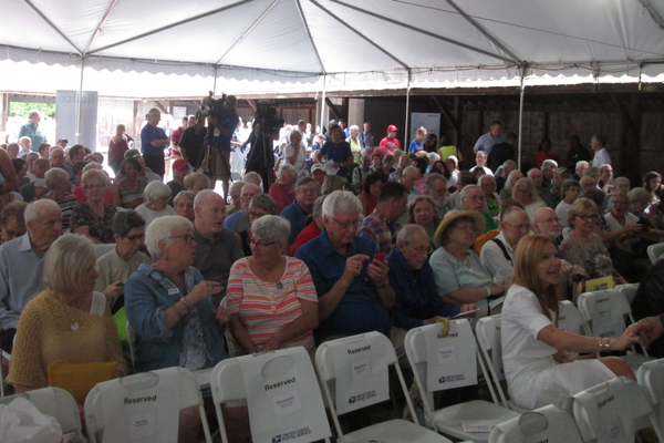 Hundreds of people and several media outlets turned out at the Brandywine River Museum of Art on July 12.