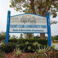 Medium yacht club community park sign