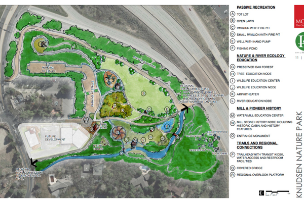 Potential use of space in Knudsen Park as submitted for ZAP application. (Holladay City website)
