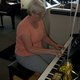 Noel Lee gives a short performance on the electric keyboard provided at Riverton Music for Make Music Day 2017. (Keyra Kristoffersen/City Journals)