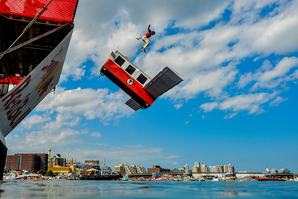 Team Breakdown Charlie competes at Red Bull Flugtag in Boston, MA in August 2016