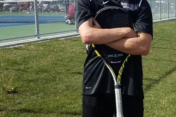 Riverton senior Grant Johnson has become an example to others by playing competitive tennis with a disability. (Grant Johnson/Riverton tennis)