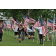 Eighty volunteers joined the West Jordan Exchange Club in June 2017 to plant its annual Field of Flags to honor children who died because of child abuse. (Reed Scharman/Exchange Club)
