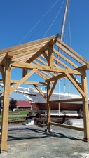 Medium cbmm timberframing shed