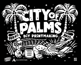 Medium city of palms print image