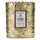 Voluspa Embossed Glass Scalloped Edge Candle, $27.98 at Pottery World, 1006 White Rock Road, El Dorado Hills. 916-358-8788, potteryworld.com
