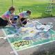 Jane Brown, Breanna Holtry recreate classic Batman comic art. (Keyra Kristoffersen/City Journals)