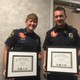 Firefighter paramedics Ian Nelson (not shown) and Joshua Ray Peterson, and Capt. Lyndsie M. Hauck were awarded their Fire Officer Designation. (Jessica Parcell/City Journals)