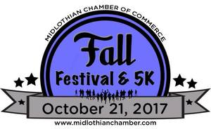 Midlothian Fall Festival  5K-Largest Fall Fest in Ellis Co - start Oct 21 2017 0900AM