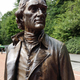 Statue of Thomas Jefferson on the Monticello grounds (depicted ca. 1815 by StudioEIS, 2009)