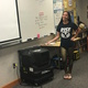 Union teachers, including eighth-grade English teacher Krista Edwards, use swamp coolers provided by Canyons School District to cool off in their classrooms. (Kelly Tauteoli/Union Middle School)