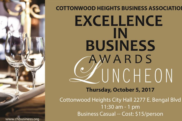 The Cottonwood Heights Business Association will host their first Business Awards. Who will win the Mayor's Excellence in Leadership Award? (Cottonwood Heights Business Association)