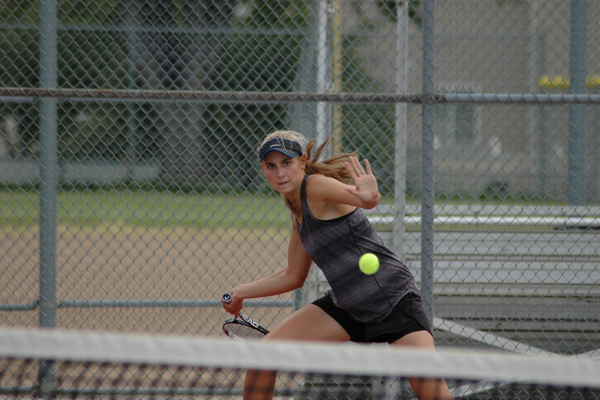 Alta junior Emily Astle leads a young girls tennis team as the number one singles player. Astle has two state titles already under her belt and hopes to add a third this season. (Ron Bevan/City Journals)