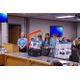 The team demonstrated the Bionic Scarecrow before the Utah State Board of Education in September. (Julie Slama/City Journals)
