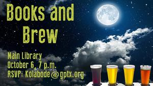 Late Night at the Library Books and Brew - start Oct 06 2017 0700PM