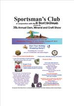 Medium gem and mineral show flyer 2013