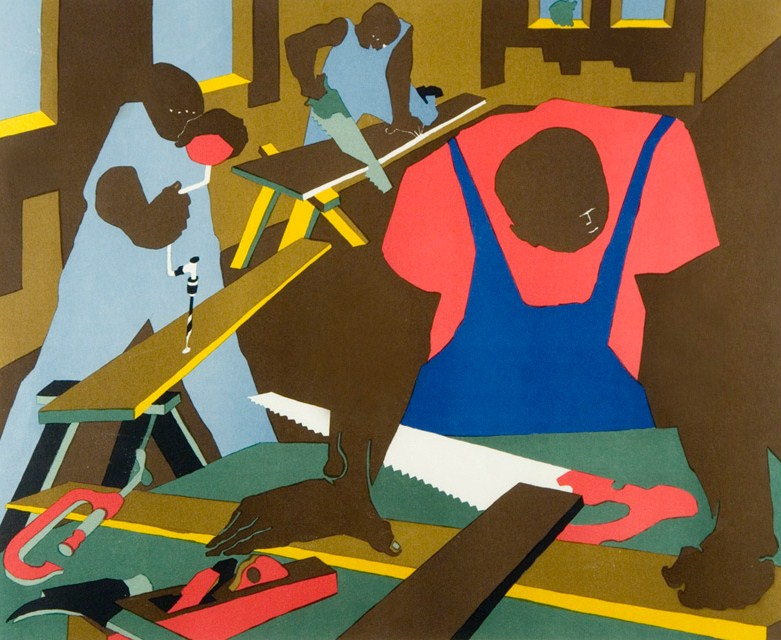Jacob lawrence carpenters silkscreen 19771 20 1  0