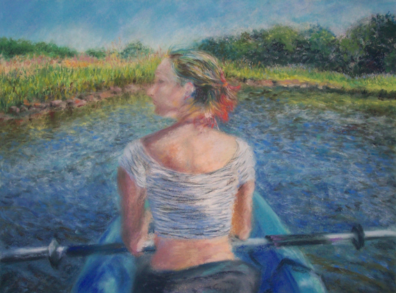 Blue 20kayak 20pastel 2015x20