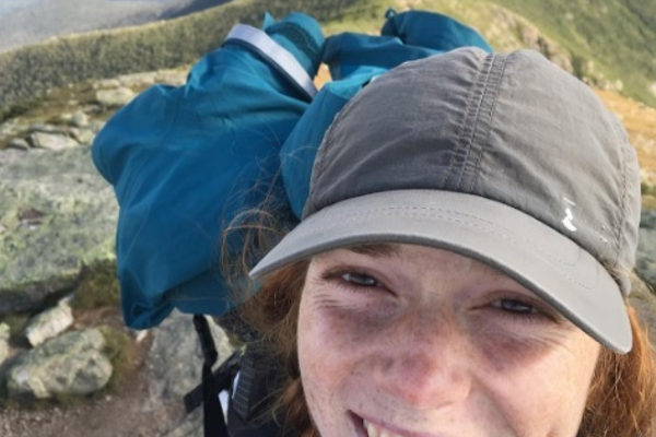 A selfie on Franconia Ridge, in the White Mountains of New Hampshire.
