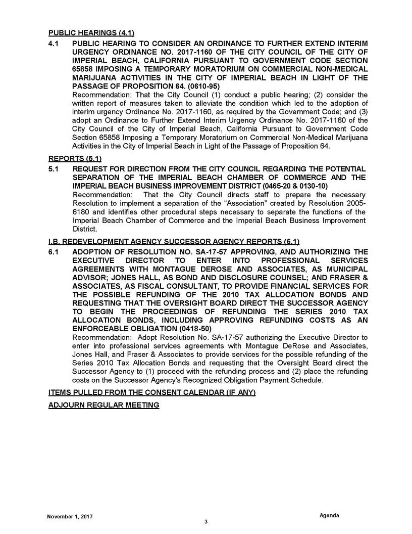 Marijuana / State of Emergency Continuation / Chamber – Bid