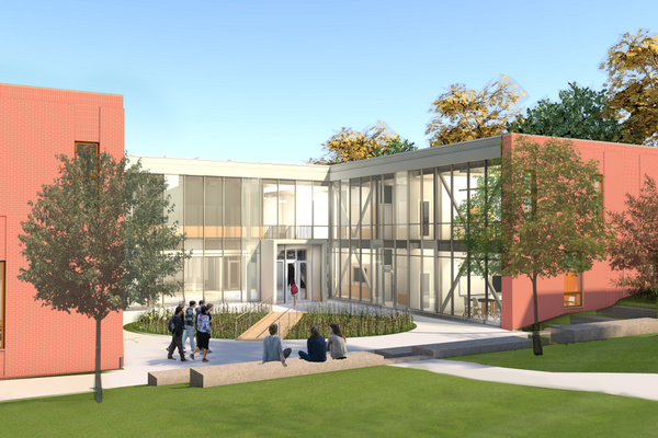 An artist's rendition of Shady Side Academy's McIlroy Center for Science and Innovation