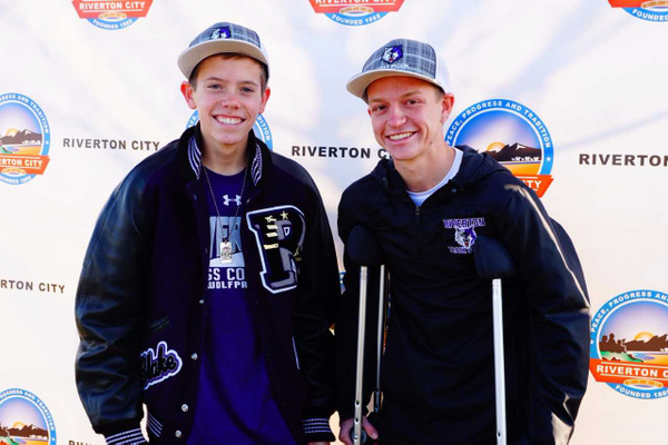 Sean Rausch and Blake Lewis were honored at the Holiday Heroes 5K. (Photo courtesy: Angela Meine)
