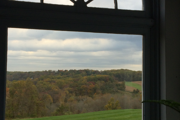 The spectacular view from the Arch Porch.