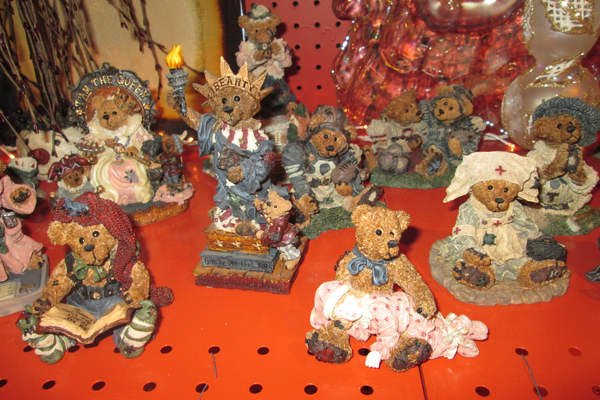 The store has a selection of the collectible Boyd's Bears.