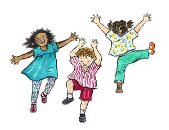 Kids dancing clip art1