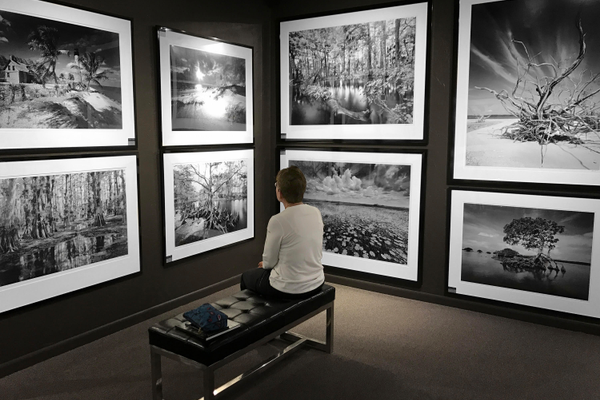 Renowned Florida photographer Clyde Butcher exhibits his work at his Big Cypress Gallery. Photo courtesy of Big Cypress Gallery.