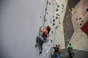 Rock climbing takes concentration and physical agility With the right gear and adequate training its a sport that many can enjoy Photo courtesy of Alec Kratoska