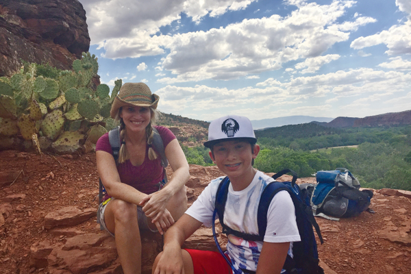 The author and her son during their trip to Sedona, Arizona. Photo by Paula Michele Bolado.