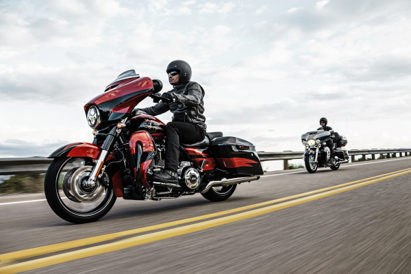 "Harley extols its 2017 CVO Street Glide as ""the premium custom Grand American Touring machine for the long-haul rider who wants it all."" Photo courtesy of Harley-Davidson."