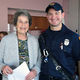 Betty Willey with Firefighter Brad Kwatcher