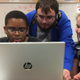 Problem solving are team members (L-R) Maleek Beazer, Sean Gerrior and Lucy Sullivan.