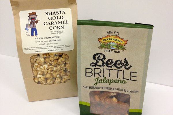 Shasta Gold Caramel Corn and Joy Lyn's Candies' Jalepeno Beer Brittle