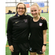 Murray's Sophie Post (R) and United States Deaf Women's National team coach Amy Griffin. (Caprice Post)