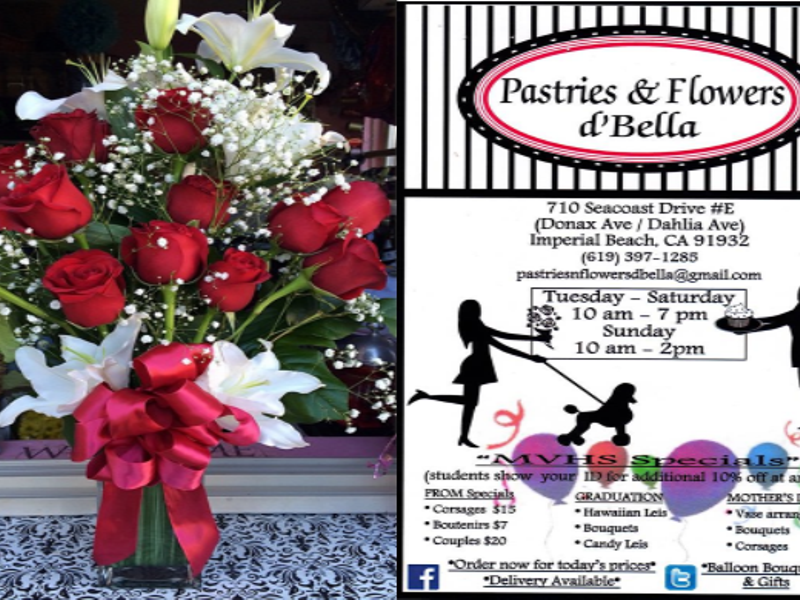 Treat Your Valentine To Pastries Flowers D Bella Located