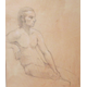 'Male Nude Seated' by Ruth Ansel.