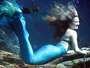 Weeki Wachee mermaids are also very accomplished out of the water Katie who is from Brooksville is fluent in German Photo courtesy of Weeki Wachee Springs State Park