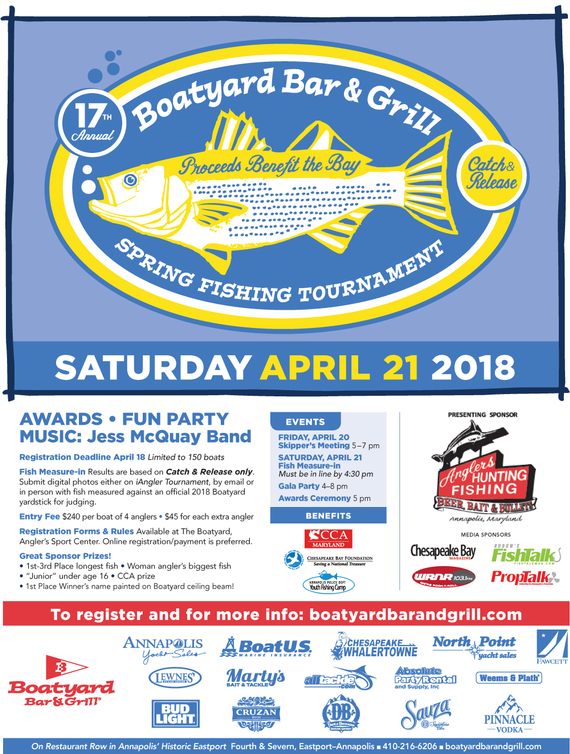 17th annual boatyard bar  grill opening day rockfish tournament